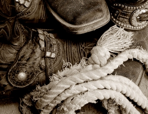 """Boots and Rope"" Western Photography by Jenny Gummersall"